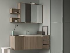 Mobile lavabo sospeso in nobilitato con cassetti SEGNO | Mobile lavabo in nobilitato - Segno