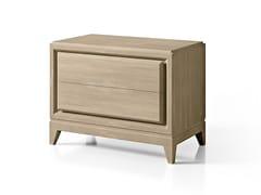 Comodino rettangolare in legno con cassettiSEGRETI S190 | Comodino - ARTE BROTTO MOBILI