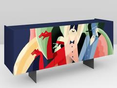 Madia in legno con ante a battenteASTRATTO 57   Madia - PICTOOM  ART FOR YOUR HOME DI MAROGNA CESARE & FIGLI