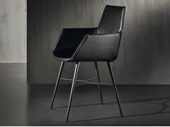Sedia in pelle con braccioliSELTZ | Sedia con braccioli - ACERBIS BY MDF ITALIA