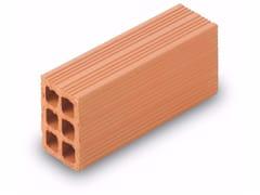 Blocco da muratura in laterizio / Blocco per tamponamento in laterizio Semipieno 7x24x11 - Blocchi e forati