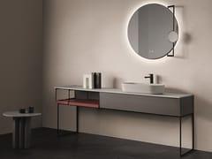 Mobile lavabo da terra singoloSEN | Mobile lavabo da terra - FIORA