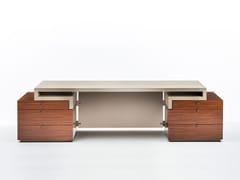 Scrivania direzionale in palissandro con cassetti SENATO | Scrivania con cassetti - Milano Collection