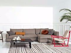 Divano angolare in tessuto con chaise longue SENNA | Divano con chaise longue -