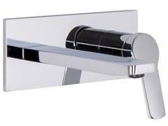 Miscelatore per lavabo a muro con piastra SERIE 4 F3760X5 | Miscelatore per lavabo - Serie4