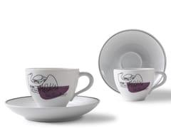 Set di tazze da caffè in porcellana con piattinoGNR SERVICE PRUNIER | Set di tazze con piattino - CASSINA