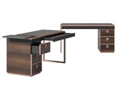 Scrivania rettangolare in legno e pelleSESTO SENSO | Scrivania - CIAC-EXPORT