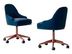 Sedia ufficio girevole in pelle e tessutoSESTO SENSO | Sedia ufficio - CIAC-EXPORT