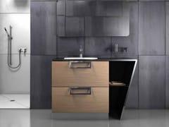 Mobile lavabo singolo in acciaio inox e legnoSETTE | Mobile lavabo singolo - COMPONENDO