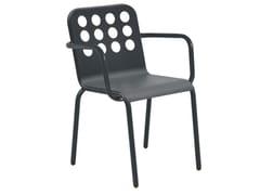 Sedia da giardino impilabile in acciaio con braccioliSEVILLA | Sedia con braccioli - ISIMAR