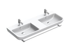 Lavabo doppio con porta asciugamani SFERA | Lavabo doppio - Sfera