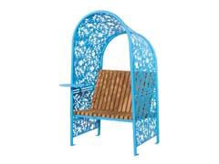 Seduta da esterni in acciaioSHADE BLUE - PUNTO DESIGN