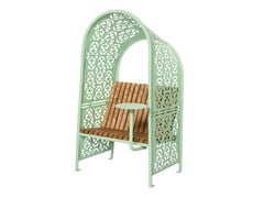 Seduta da esterni in acciaioSHADE GREEN - PUNTO DESIGN