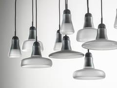 Lampada a sospensione in vetro soffiato con dimmerSHADOWS | Lampada a sospensione in vetro - BROKIS