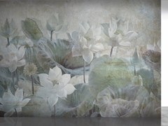 Affreschi & Affreschi, SHADOWS SH 09 Carta da parati ecologica in intonaco arrotolabile con motivi floreali