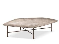Tavolino basso da caffè in travertinoSHANGHAI | Tavolino in travertino - CANTORI
