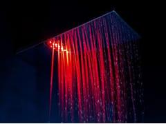 Soffione doccia a muro in ottone con cromoterapiaSHARP | Soffione doccia con cromoterapia - TECH RAIN