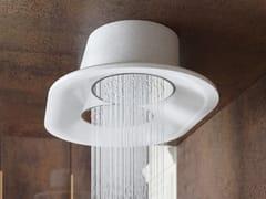 Soffione doccia a soffitto rotondo in materiale compositoSHELL RAIN - RELAX DESIGN