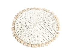 Tovaglietta rotonda in fibre vegetaliSHELL | Tovaglietta rotonda - BAZAR BIZAR