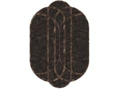 Tappeto ovale in tessuto a motivi geometrici SHELLEY - Loveluxe