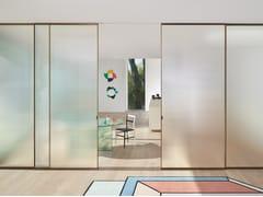 Glas Italia, SHERAZADE SLIDE Porta scorrevole in cristallo stampato