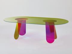 Tavolo ovale in cristallo SHIMMER | Tavolo ovale - Shimmer