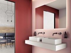 Lavabo doppio in Silexpol® con pianoSHIRO | Lavabo - FIORA