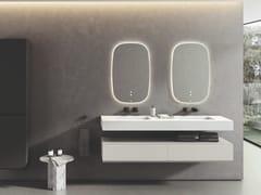 Lavabo doppio in Silexpol® con cassettiSHIRO | Lavabo con cassetti - FIORA