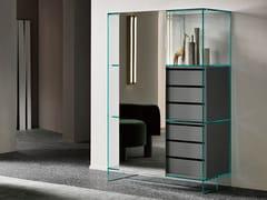 Credenza in vetro a specchio con ante scorrevoli con cassettiSHOJI | Credenza con cassetti - T.D. TONELLI DESIGN