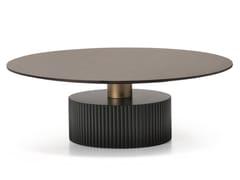 Tavolino basso rotondo in legno impiallacciatoSHORT N09 - SCAPPINI & C. CLASSIC FURNITURE