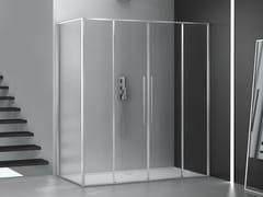 Box doccia angolare in vetro con porta scorrevoleZEN   Box doccia - MEGIUS