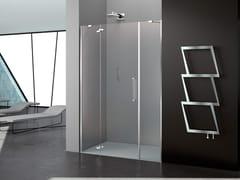Box doccia a nicchia in vetro con porta a battentePRISMA 2.0 | Box doccia - MEGIUS