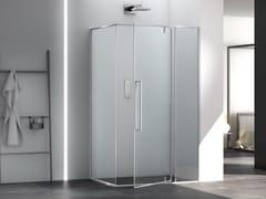 Box doccia angolare in vetro con porta pivotanteZEN   Box doccia con porta pivotante - MEGIUS