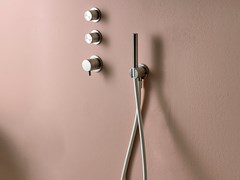 Miscelatore per doccia termostatico in acciaio inox con doccetta SYNTH | Miscelatore per doccia termostatico - SYNTH