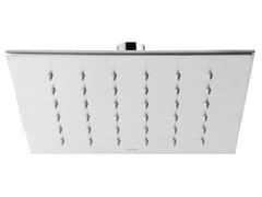 Soffione doccia a soffitto quadrato in acciaio inox SHOWERS STEEL - 0423340 - ShowersSteel