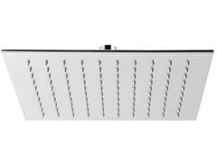 Fir Italia, SHOWERS STEEL - 0423380 Soffione doccia a soffitto quadrato in acciaio inox