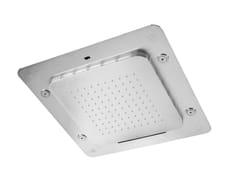 Soffione doccia a LED da incasso in acciaio inox con cromoterapia SHOWERS STEEL - 8572388 - ShowersSteel