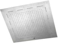 Fir Italia, SHOWERS STEEL - 8572818 Soffione doccia a LED da incasso in acciaio inox con cromoterapia