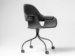 Sedia imbottita con ruoteSHOWTIME NUDE | Sedia con ruote - BD BARCELONA DESIGN