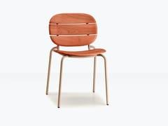 Sedia da esterno in acciaio e legnoSI-SI WOOD | Sedia - S•CAB