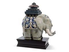 Soprammobile in porcellanaSIAMESE ELEPHANT - LLADRÓ