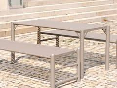 Tavolo per spazi pubblici rettangolare in acciaio inoxSIARDO 130 R | Tavolo per spazi pubblici - BENKERT BÄNKE