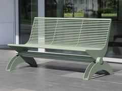 Panchina in acciaio inox con schienaleSIARDO 1300 R | Panchina con schienale - BENKERT BÄNKE