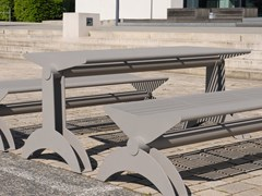 Tavolo per spazi pubblici rettangolare in acciaio inoxSIARDO 1300 R | Tavolo per spazi pubblici - BENKERT BÄNKE
