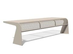 Panchina in acciaio inox senza schienaleSIARDO 20 R | Panchina - BENKERT BÄNKE
