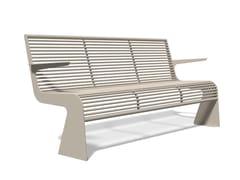 Panchina in acciaio inox con braccioliSIARDO 20 R | Panchina con braccioli - BENKERT BÄNKE