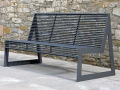 Panchina in acciaio inox con schienaleSIARDO 30 R | Panchina con schienale - BENKERT BÄNKE