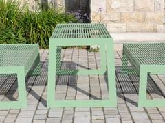 Tavolo per spazi pubblici rettangolare in acciaio inoxSIARDO 30 R | Tavolo per spazi pubblici - BENKERT BÄNKE