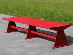 Panchina in acciaio inox senza schienaleSIARDO 40 R | Panchina - BENKERT BÄNKE