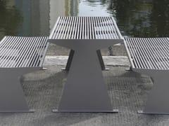 Tavolo per spazi pubblici rettangolare in acciaio inoxSIARDO 40 R | Tavolo per spazi pubblici - BENKERT BÄNKE
